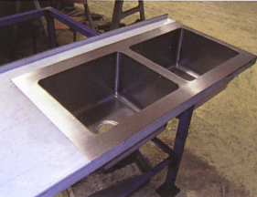 Custom stainless steel sink