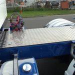 Truck walkway plate