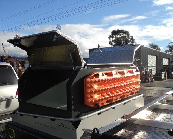 Custom storage box for camper van 13 600x480 - Canopies